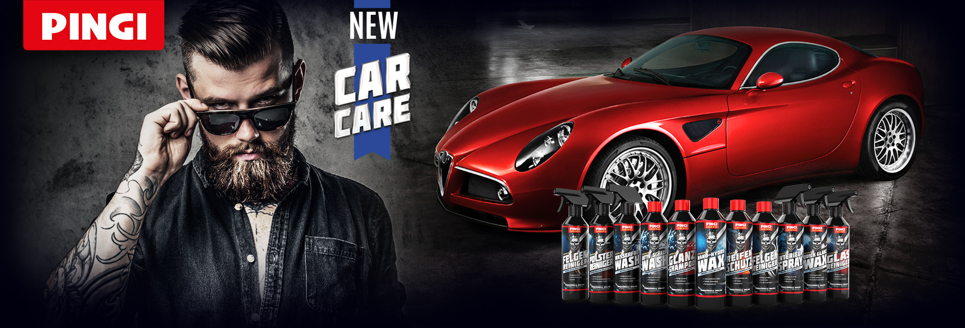 PINGI Banner Legends carcare